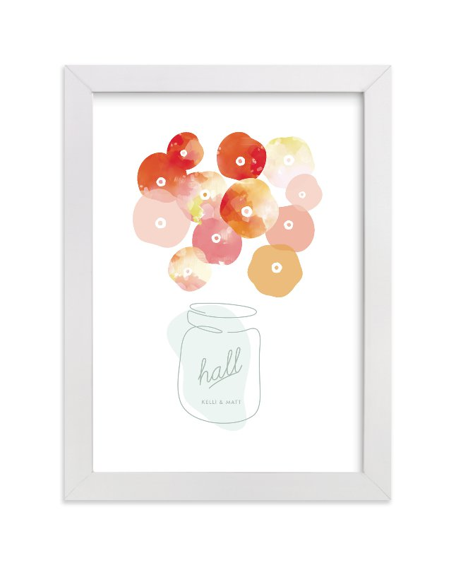 """Summer Pickled Poppies"" by kelli hall in beautiful frame options and a variety of sizes."