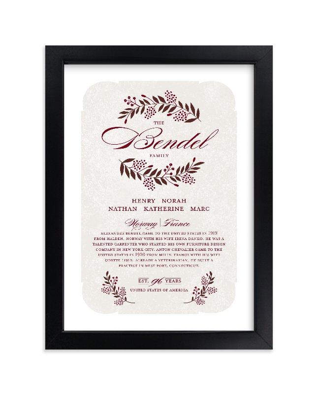 """Surname"" by Yolanda Mariak Chendak in beautiful frame options and a variety of sizes."