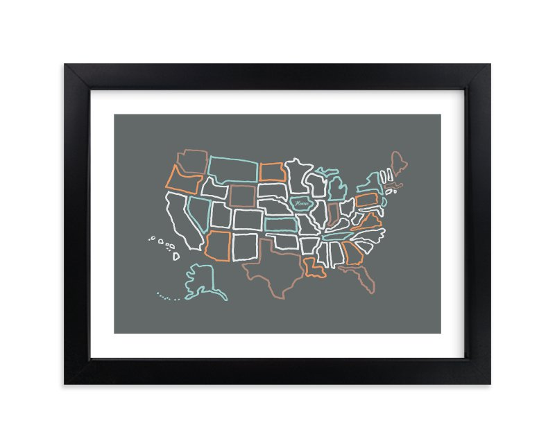 """This is Home"" by Moglea in beautiful frame options and a variety of sizes."