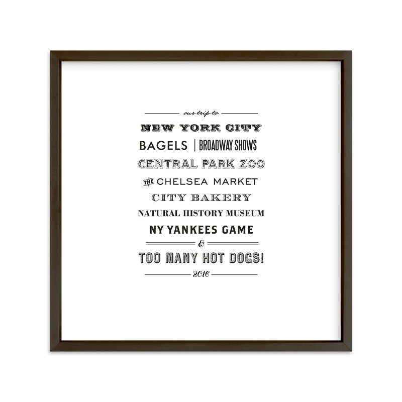 """""""Type Tribute"""" by cambria in beautiful frame options and a variety of sizes."""