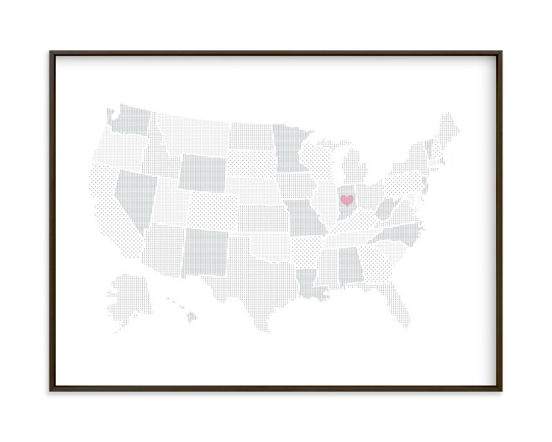 """""""Polka Dotted States of America"""" by Jessie Steury in beautiful frame options and a variety of sizes."""