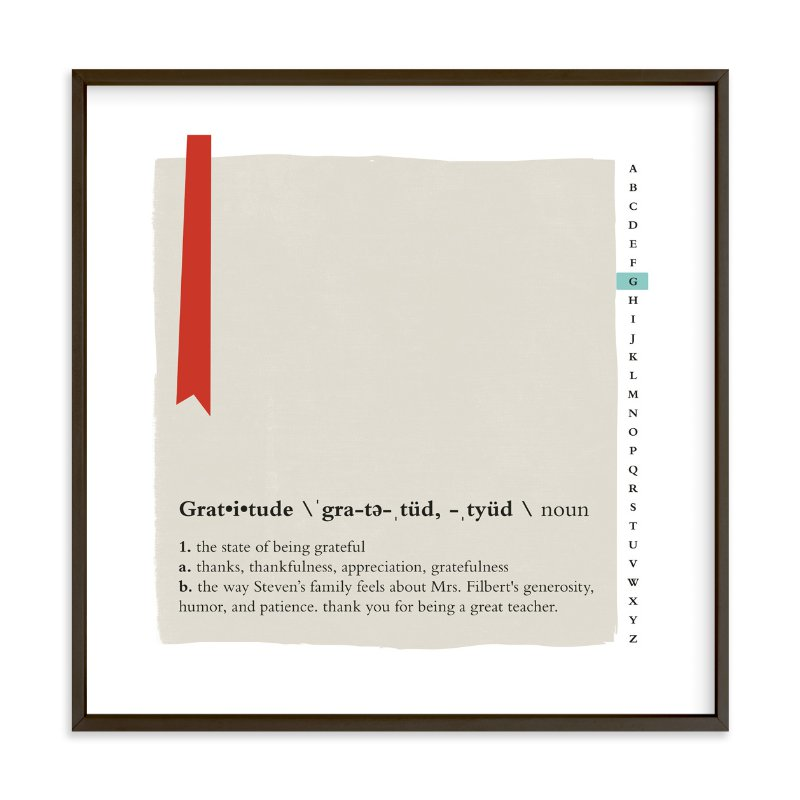 """""""Gratitude Defined"""" by Frooted Design in beautiful frame options and a variety of sizes."""