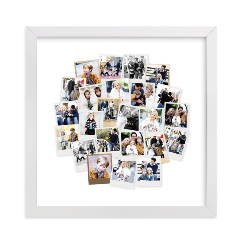 """""""Circle Snapshot Mix®"""" - Foil Pressed Photo Art Print by Minted in beautiful frame options and a variety of sizes."""