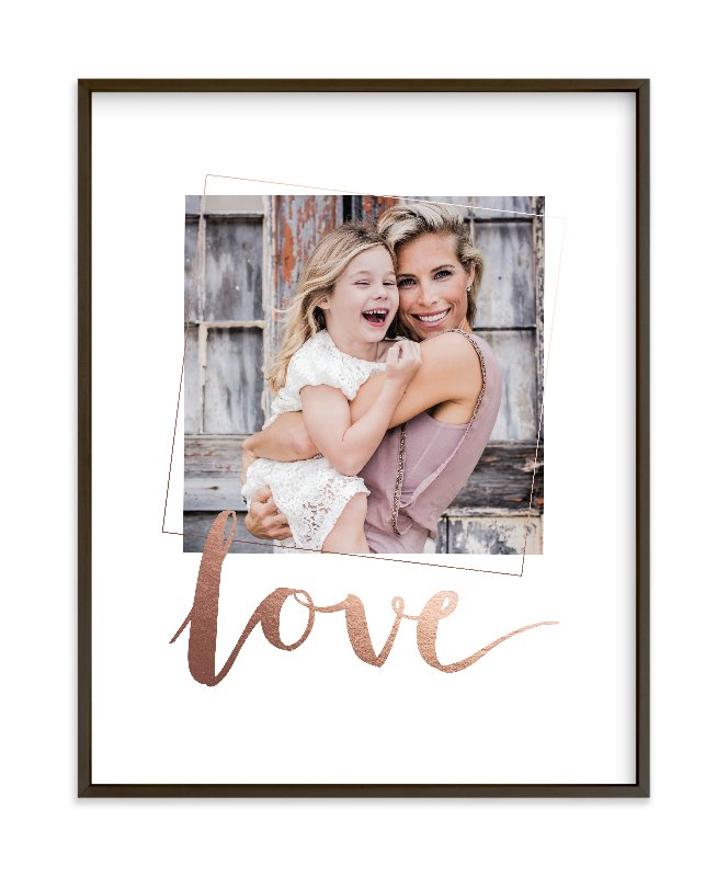 """""""Love You, Love"""" - Foil Pressed Photo Art Print by Seven Swans in beautiful frame options and a variety of sizes."""