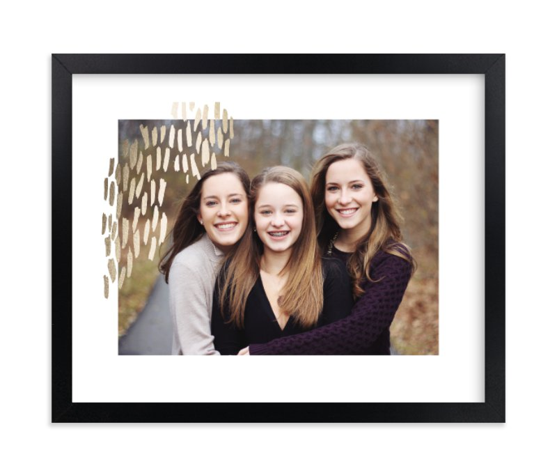 """""""Metallic Dash"""" - Foil Pressed Photo Art Print by Makewells in beautiful frame options and a variety of sizes."""