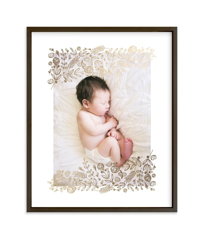 """Petit Floral "" - Foil Pressed Photo Art Print by Phrosne Ras in beautiful frame options and a variety of sizes."