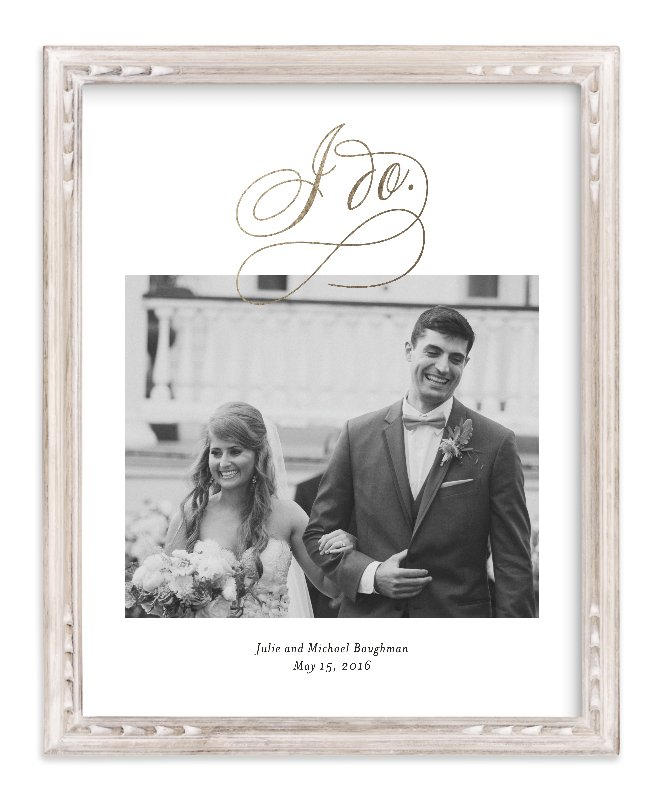 """""""I Do"""" - Foil Pressed Photo Art Print by Kimberly FitzSimons in beautiful frame options and a variety of sizes."""