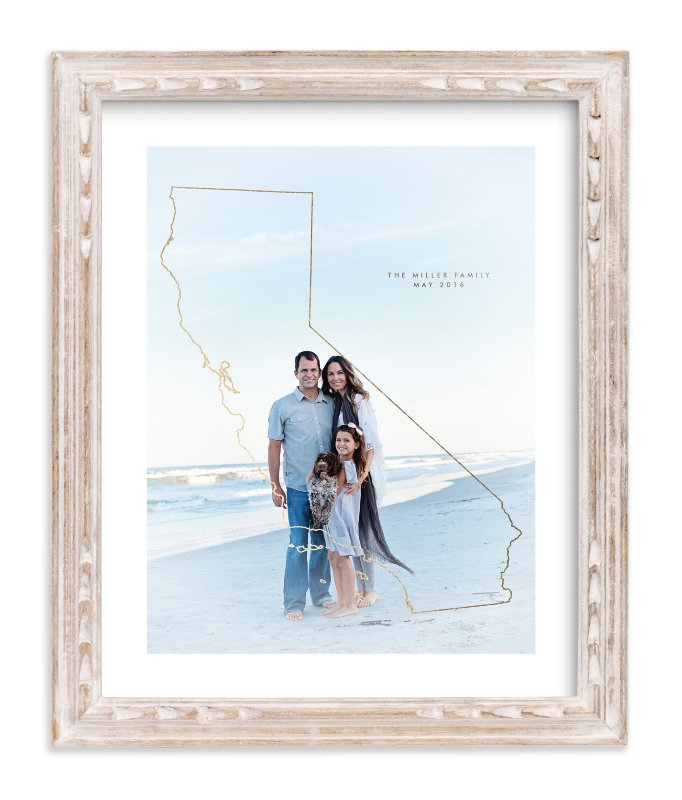 """All I Need - California"" - Foil Pressed Photo Art Print by Owl and Toad in beautiful frame options and a variety of sizes."
