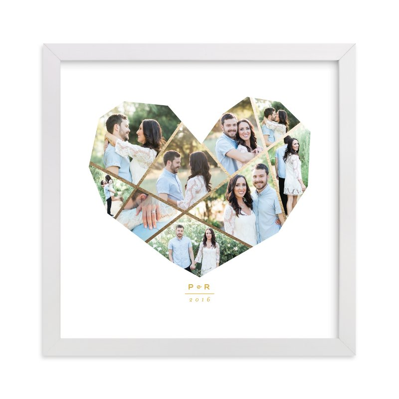 """Complete Love"" - Foil Pressed Photo Art Print by fatfatin in beautiful frame options and a variety of sizes."