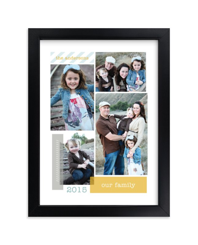 """""""Family Collage"""" - Custom Photo Art Print by Robin Ott in beautiful frame options and a variety of sizes."""