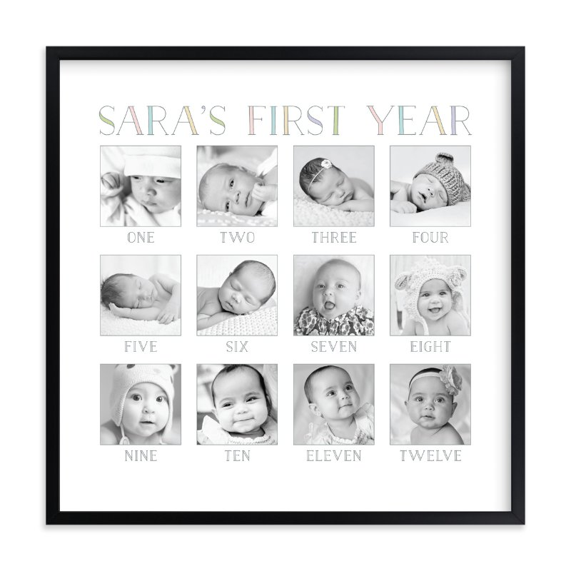 Baby\'s First Year Wall Art Prints by Erin Deegan | Minted