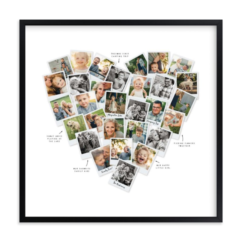 """""""Captioned Heart Snapshot Mix® Photo Art"""" - Custom Photo Art Print by Minted in beautiful frame options and a variety of sizes."""