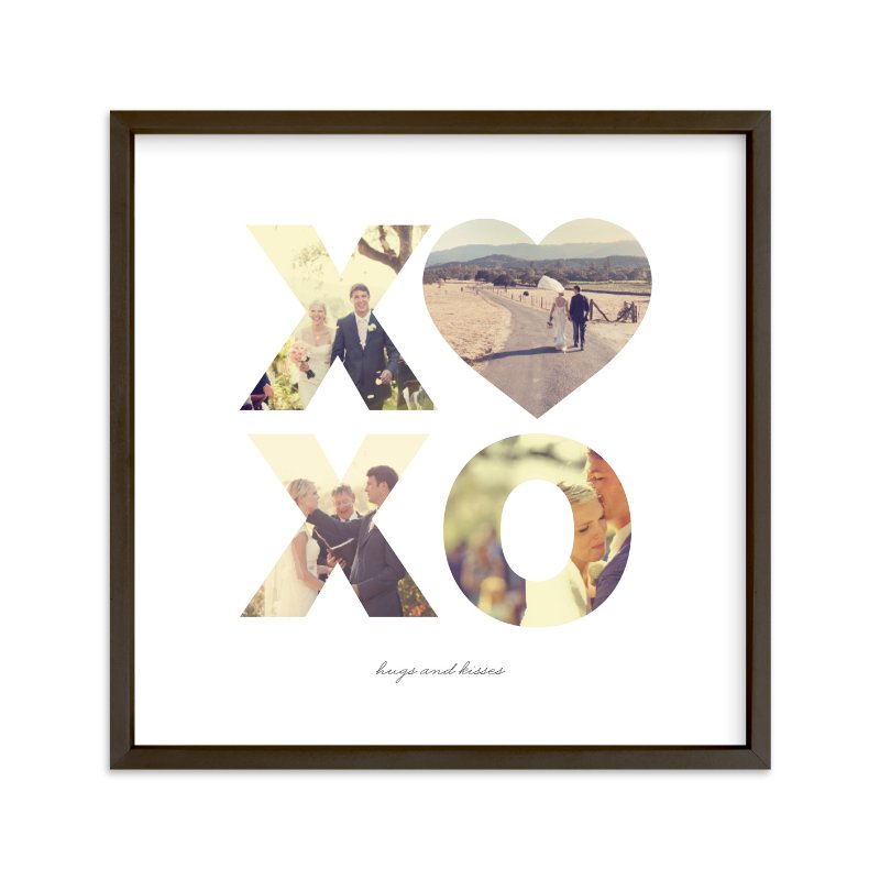 """""""Hugs and Kisses"""" - Custom Photo Art Print by Carolina Carezis in beautiful frame options and a variety of sizes."""