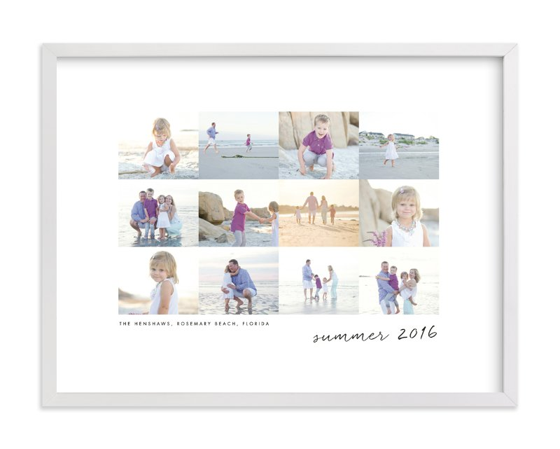"""""""Travel Collage"""" - Custom Photo Art Print by Sara Hicks Malone in beautiful frame options and a variety of sizes."""