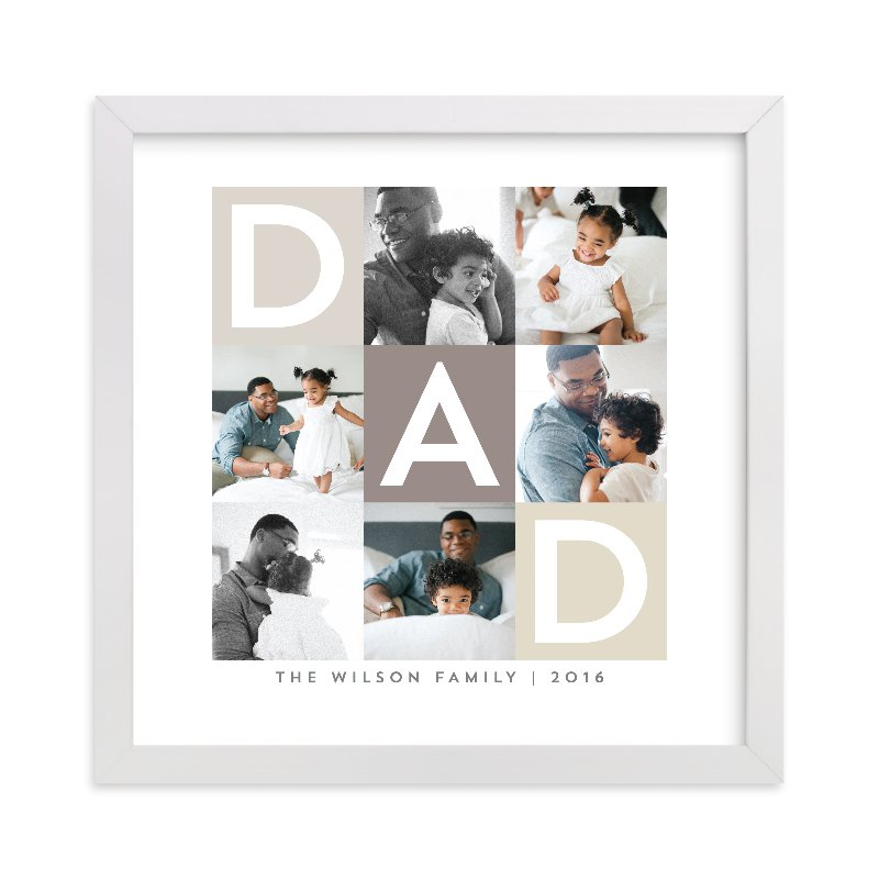 """""""Best Dad Ever Boxes"""" - Custom Photo Art Print by Alethea and Ruth in beautiful frame options and a variety of sizes."""