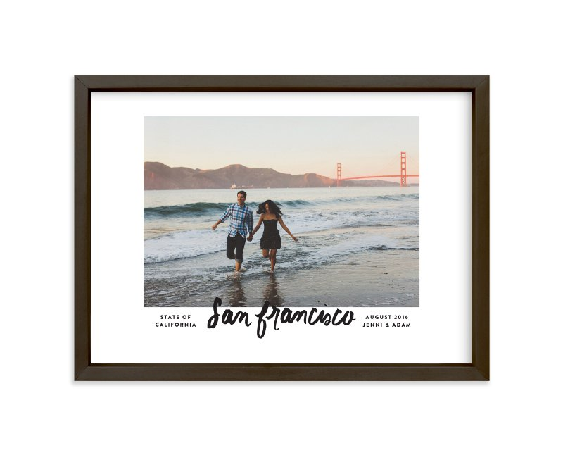 """""""San Francisco Script"""" - Custom Photo Art Print by Olivia Kanaley in beautiful frame options and a variety of sizes."""