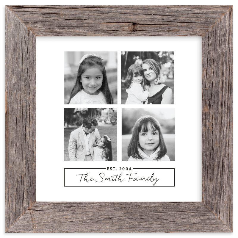 """""""Family of Four"""" - Custom Photo Art Print by Ester M Nersisyan in beautiful frame options and a variety of sizes."""