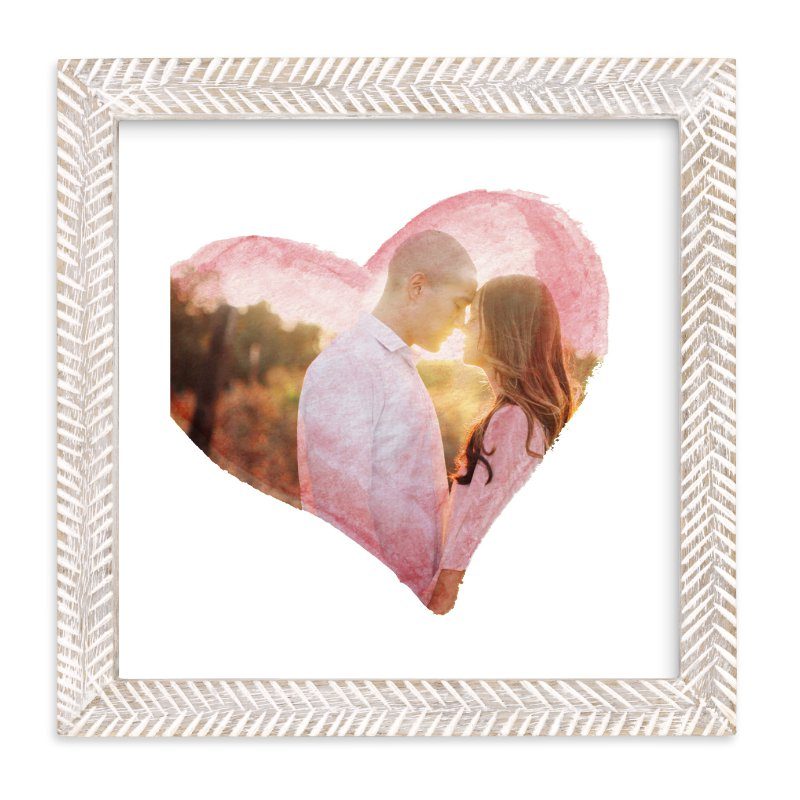"""""""Watercolor Heart"""" - Custom Photo Art Print by Smudge Design in beautiful frame options and a variety of sizes."""