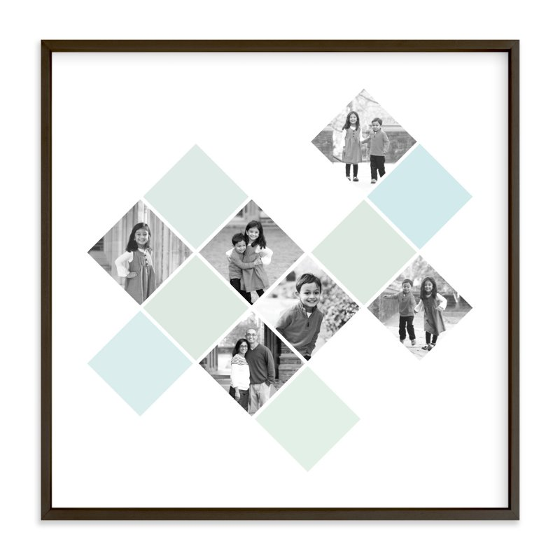 """Diamond Mosaic"" - Custom Photo Art Print by Fig and Cotton in beautiful frame options and a variety of sizes."