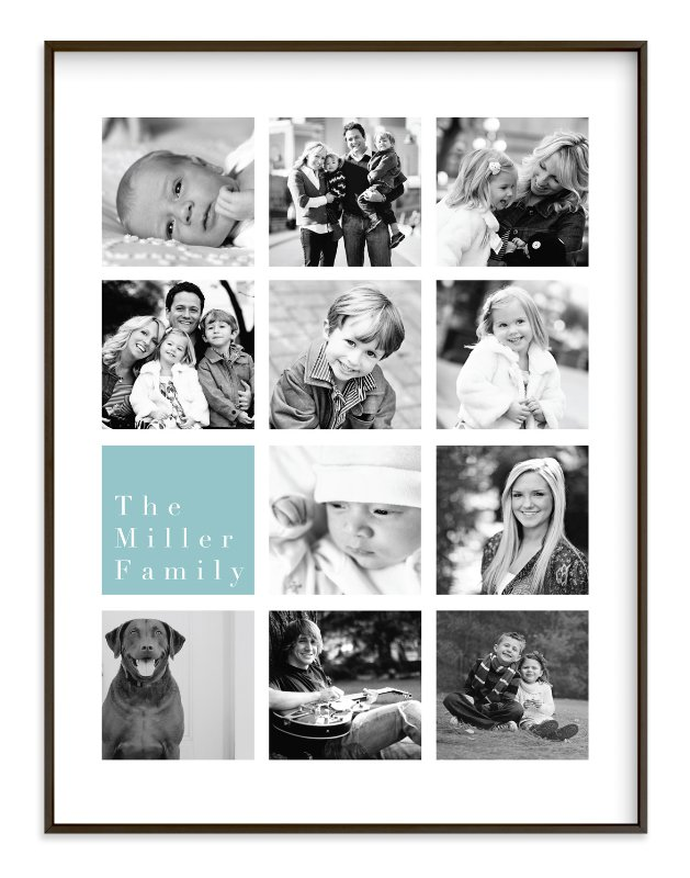 """""""Family Highlights"""" - Custom Photo Art Print by Refound Nostalgia in beautiful frame options and a variety of sizes."""
