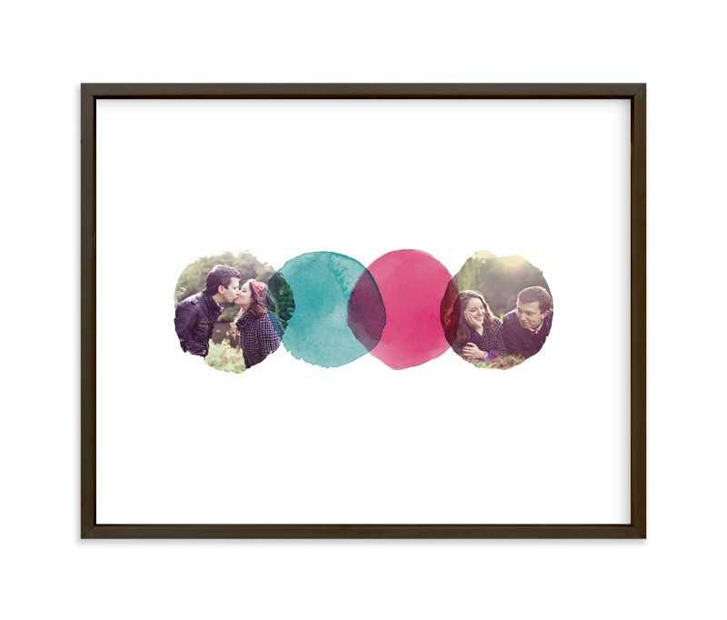 """Overlapping Watercolor Love"" - Custom Photo Art Print by A Little Big Picture in beautiful frame options and a variety of sizes."