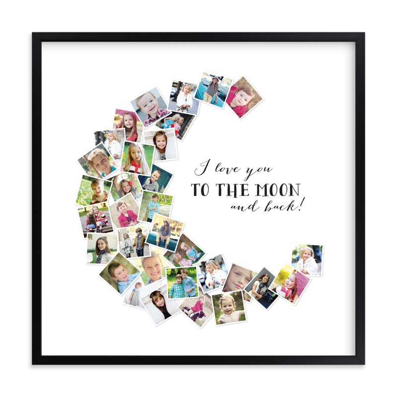 """""""Love You To The Moon & Back!"""" - Custom Photo Art Print by Chasity Smith in beautiful frame options and a variety of sizes."""