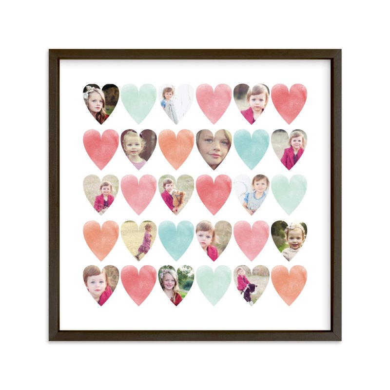 """""""Watercolor Hearts"""" - Custom Photo Art Print by Grace Kreinbrink in beautiful frame options and a variety of sizes."""