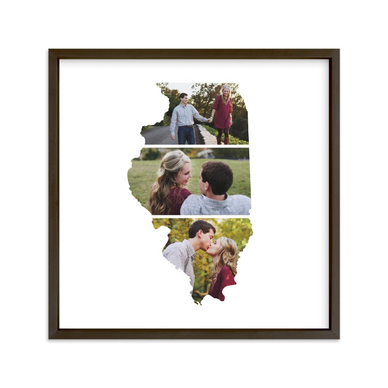 """Illinois Love Location"" - Custom Photo Art Print by Heather Buchma in beautiful frame options and a variety of sizes."