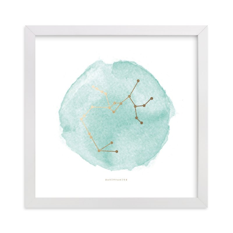"""""""Sagittarius"""" - Foil-pressed Art Print by annie clark in beautiful frame options and a variety of sizes."""