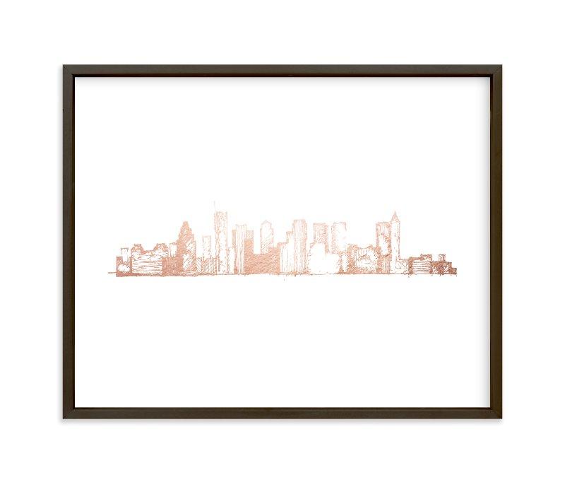 Boston Skyline Foil Pressed Wall Art By Phrosne Ras Minted