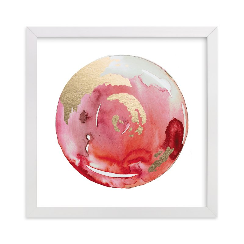 """""""King Midas + Reds"""" - Foil-pressed Art Print by Naomi Ernest in beautiful frame options and a variety of sizes."""