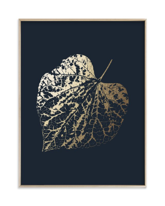 """""""Red Bud"""" - Foil-pressed Art Print by LemonBirch Design in beautiful frame options and a variety of sizes."""