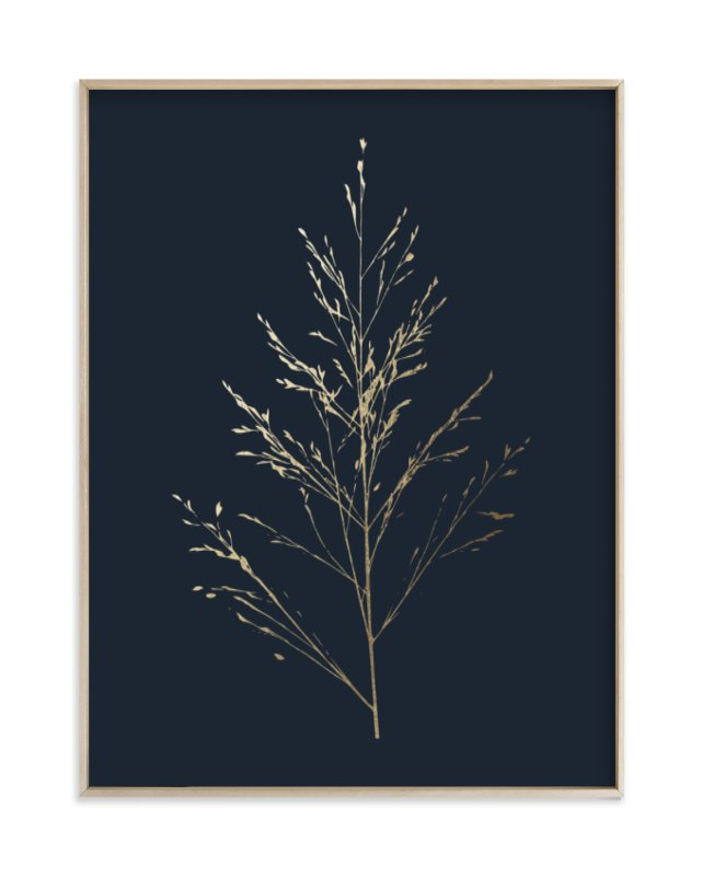 """Wild grass"" - Foil-pressed Art Print by LemonBirch Design in beautiful frame options and a variety of sizes."