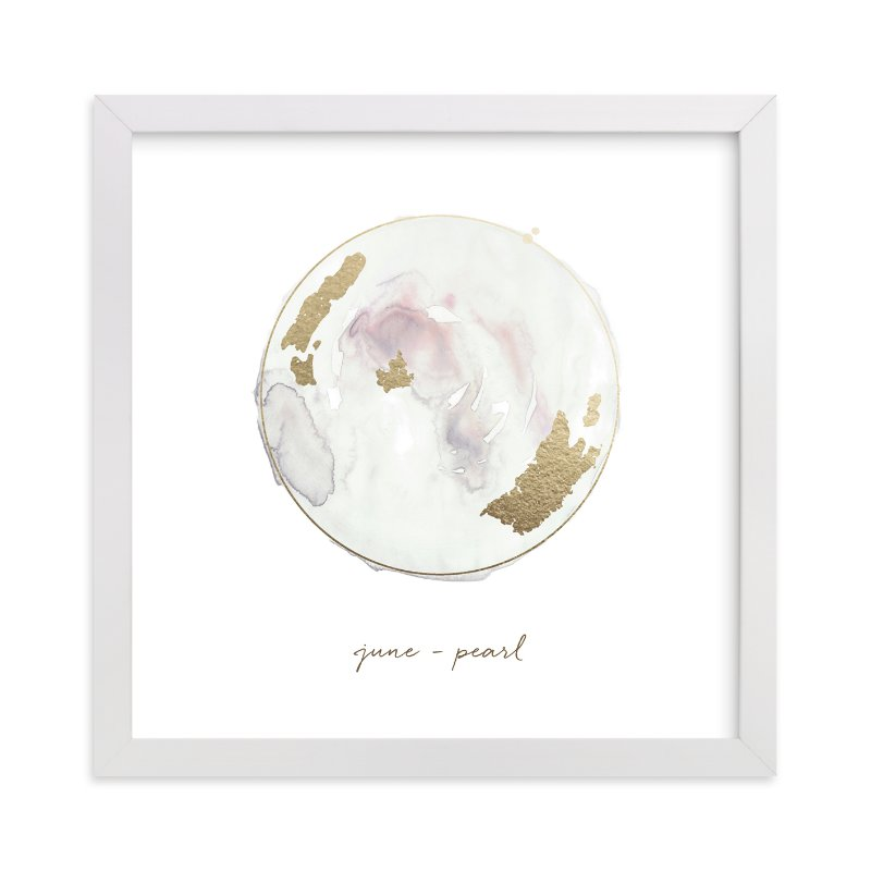 """""""June - Pearl"""" - Foil-pressed Art Print by Naomi Ernest in beautiful frame options and a variety of sizes."""