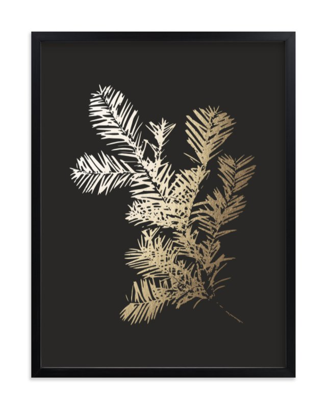 """""""Silver Fir"""" - Foil-pressed Art Print by LemonBirch Design in beautiful frame options and a variety of sizes."""
