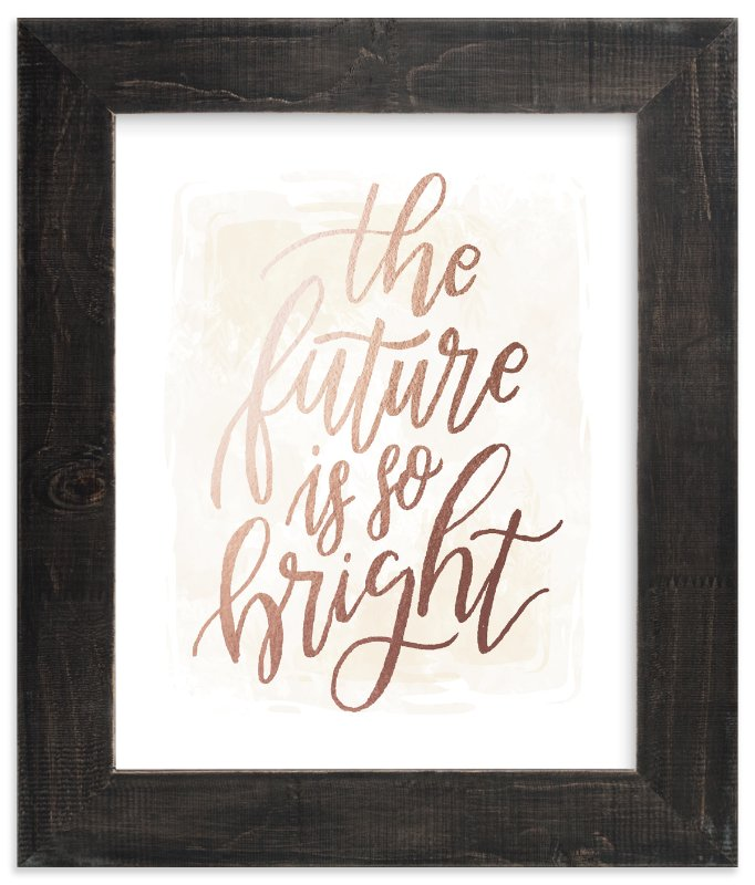 """""""Bright"""" - Foil-pressed Art Print by Grace Kreinbrink in beautiful frame options and a variety of sizes."""