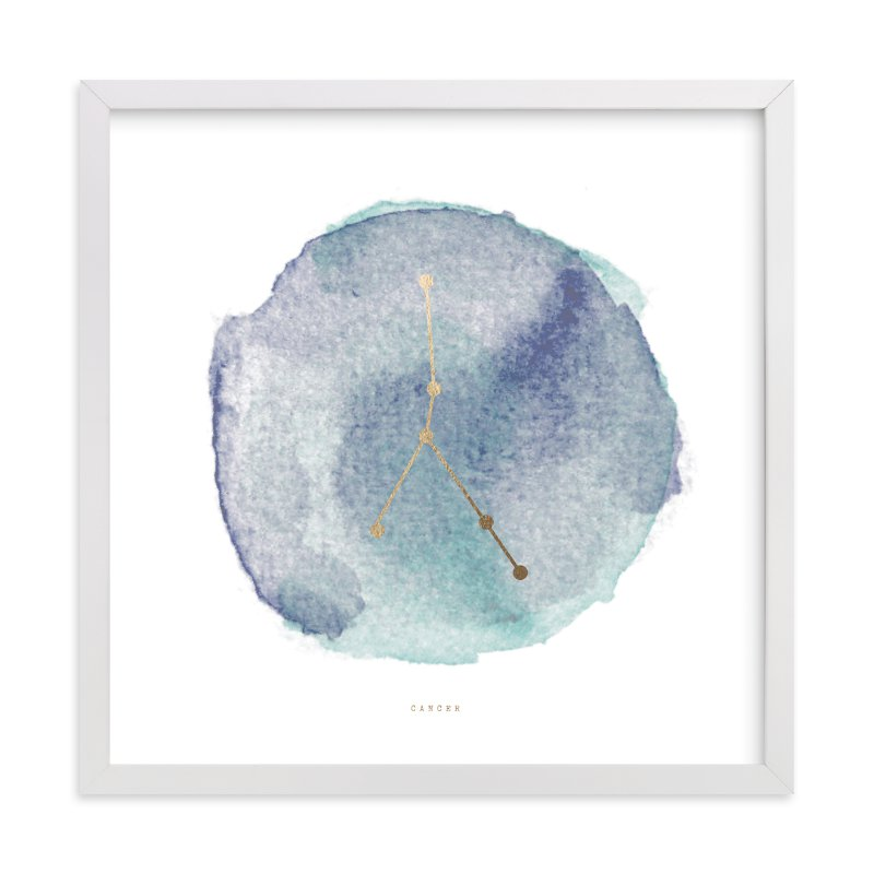 """""""Cancer"""" - Foil-pressed Art Print by annie clark in beautiful frame options and a variety of sizes."""