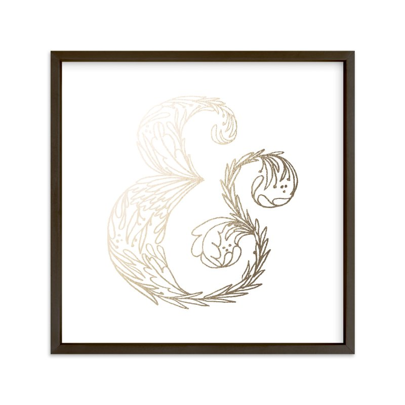 """""""Botanical &"""" - Foil-pressed Art Print by Grace Kreinbrink in beautiful frame options and a variety of sizes."""