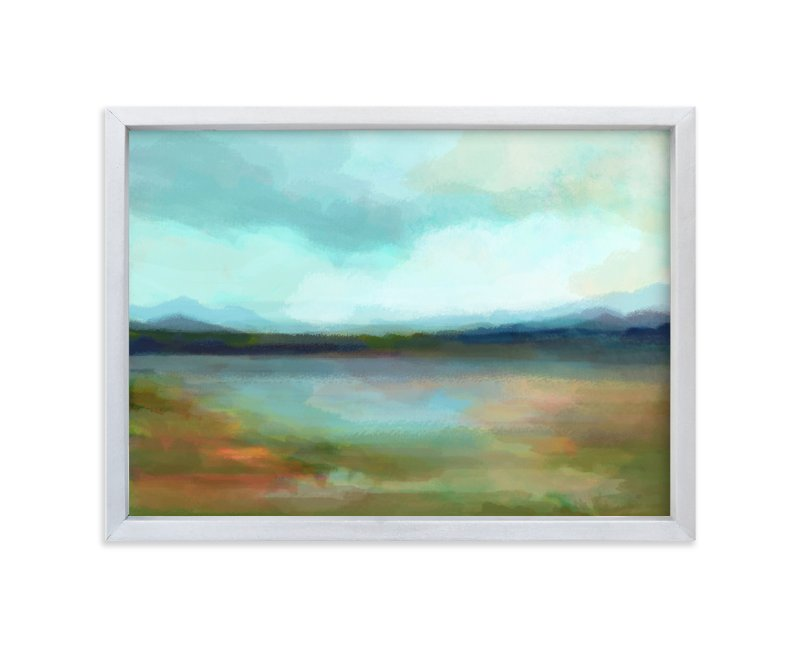 """Days of Blue"" - Limited Edition Art Print by Alison Jerry Designs in beautiful frame options and a variety of sizes."