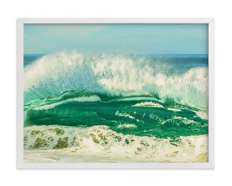 """""""The Wave"""" - Limited Edition Art Print by Debra Butler in beautiful frame options and a variety of sizes."""