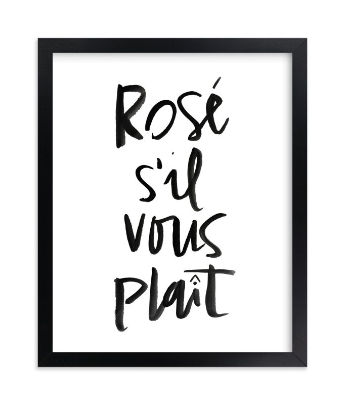 """""""Rosé S'il Vous Plaît"""" - Limited Edition Art Print by Annie Montgomery in beautiful frame options and a variety of sizes."""