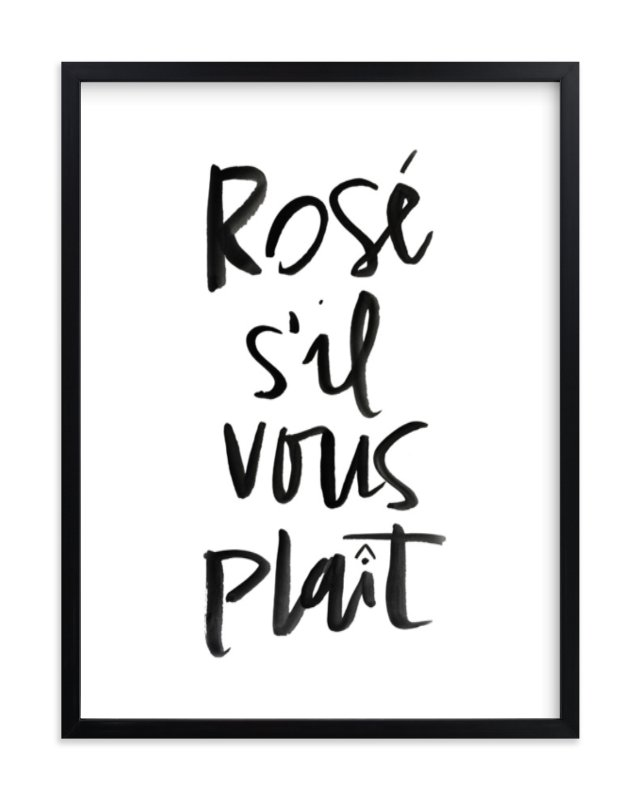 """Rosé S'il Vous Plaît"" - Limited Edition Art Print by Annie Montgomery in beautiful frame options and a variety of sizes."
