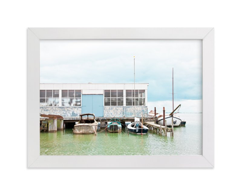 """""""Rusty Dock"""" - Limited Edition Art Print by Alexandra Feo in beautiful frame options and a variety of sizes."""