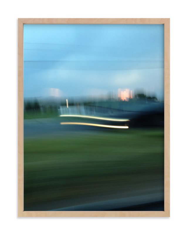 """Sunset Headlights"" - Limited Edition Art Print by cassie adams in beautiful frame options and a variety of sizes."