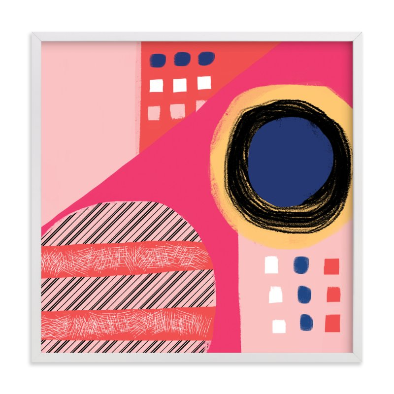 """Fun Patterns on Pink"" - Limited Edition Art Print by Melanie Biehle in beautiful frame options and a variety of sizes."