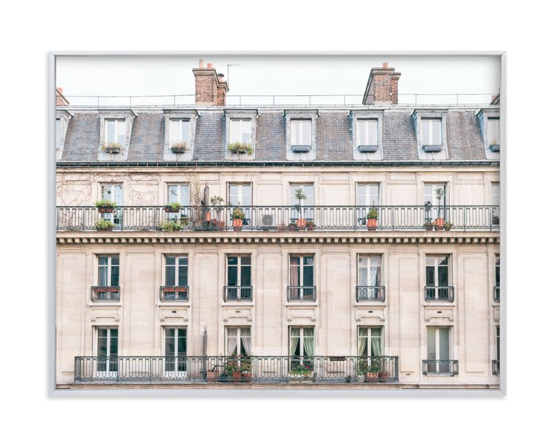 """Days in Paris"" - Limited Edition Art Print by Jessica C Nugent in beautiful frame options and a variety of sizes."