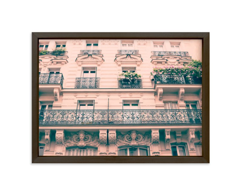 """Iron Parisian Balconies "" - Limited Edition Art Print by Caroline Mint in beautiful frame options and a variety of sizes."