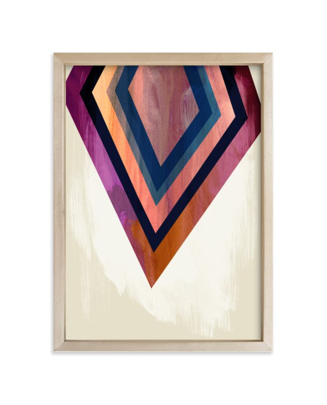 """Geo Point"" - Limited Edition Art Print by Field and Sky in beautiful frame options and a variety of sizes."