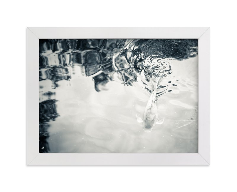 """Pond 2"" - Limited Edition Art Print by Qing Ji in beautiful frame options and a variety of sizes."
