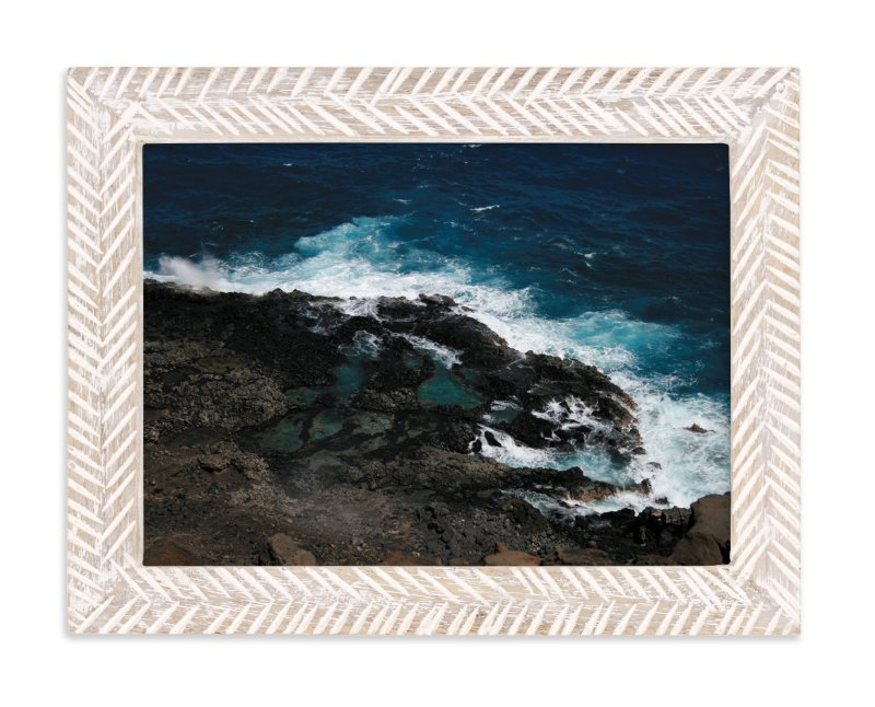 """""""Tidal Pools & Crashing Waves"""" - Limited Edition Art Print by Whitney Todd in beautiful frame options and a variety of sizes."""